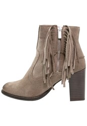 Zign Cowboy Biker Boots Stone Taupe