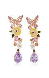Anabela Chan M'o Exclusive Amethyst Vine Earrings Purple