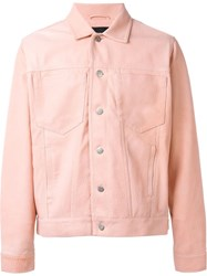 Misbhv Buttoned Jacket Pink And Purple