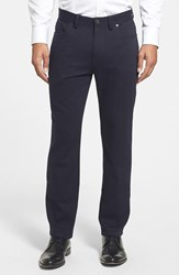 Vince Camuto Men's Sraight Leg Five Pocket Stretch Pants Navy Crosshatch