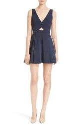 Alice Olivia Women's Nina Cutout Fit And Flare Dress