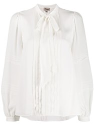 Temperley London Pleated Pussy Bow Blouse 60