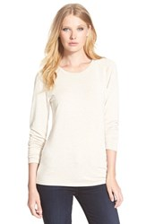 Women's Nordstrom Collection 'Ultimate' Stretch Modal Crewneck Tee Tan Oxford Heather