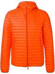 Save The Duck Hooded Padded Jacket Yellow Orange