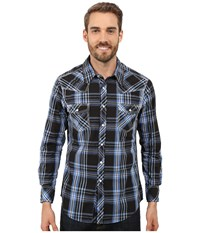 Rock And Roll Cowboy Long Sleeve Snap B2s7261 Blue Men's Long Sleeve Button Up