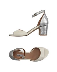 Julie Dee Footwear Sandals Women Ivory
