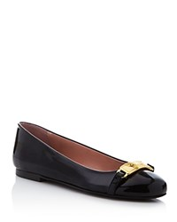 Moschino Cheap And Chic Moschino Cheap And Chic Logo Embellished Ballerina Flats Black