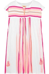 Lemlem Elsi Striped Cotton Blend Gauze Kaftan Pink