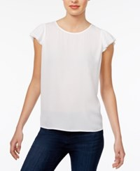 Maison Jules Flutter Sleeve Top Only At Macy's Bright White