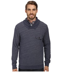Pendleton L S Shawl Collar Board Pullover Blue Heather Men's Long Sleeve Pullover