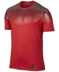 Nike Men's Hypercool Dri Fit Max Fitted T Shirt University Red