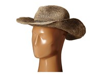 Hat Attack Raffia Crochet Continental With Sparkle Trim Taupe Silver Traditional Hats