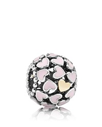 Pandora Design Pandora Charm Sterling Silver And Enamel Abundance Of Love Moments Collection Pink Silver Gold