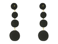 Kenneth Jay Lane 3 Black Thread Small To Large Matte Wrapped Ball Clip Earrings W Dome Top Black Earring