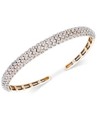 Wrapped In Love Diamond Pave Cuff Bracelet 3 Ct. T.W. 14K Gold Created For Macy's Yellow Gold