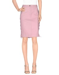 American Retro Skirts Knee Length Skirts Women Pink