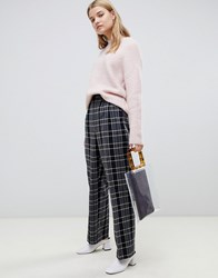 Selected Check Trousers Black Check Multi