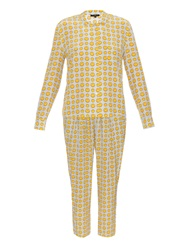Anya Hindmarch Smiley Print Silk Pyjama Set