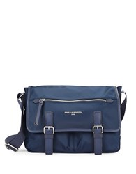 Karl Lagerfeld Nylon Messenger Bag Navy Blue