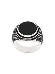 Andrea D'amico Engraved Silver Ring Metallic