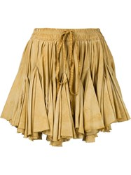 Vivienne Westwood Gold Label Facette Skirt Yellow And Orange