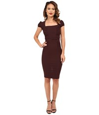 Stop Staring Lindsey Fitted Dress Chocolate Women's Dress Brown
