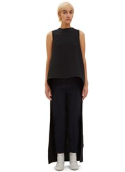 Marni Long Cut Out Sleeveless Dress Navy