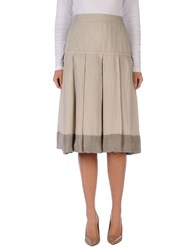 Jeans Les Copains Skirts 3 4 Length Skirts Beige