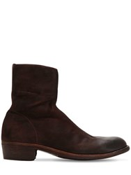 Officine Creative Ponti 001 Reversed Leather Boots Brown