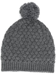 Dolce And Gabbana Knitted Beanie Hat Grey