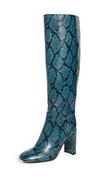 Jeffrey Campbell Entuit Tall Boots Dusty Blue Snake