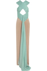 Vionnet Cutout Pleated Cashmere And Silk Gown Green