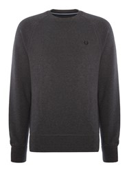Fred Perry Loopback Crew Neck Sweat Graphite