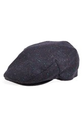 Barbour 'Moons' Tweed Driving Cap Navy