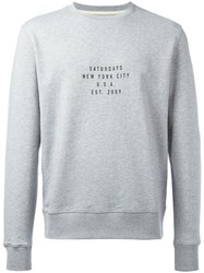 Saturdays Surf Nyc Slogan Print Sweatshirt Grey