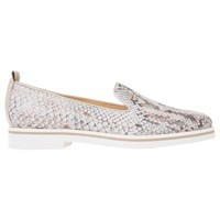 Geox Janalee Flat Loafers Taupe White