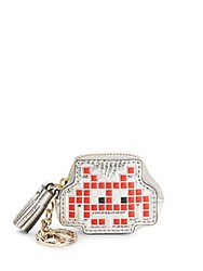 Anya Hindmarch Space Invaders Robot Leather Coin Purse Red