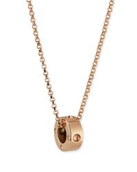 Roberto Coin Symphony Collection 18K Gold Mini Pois Moi Circle Pendant Necklace
