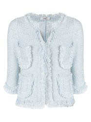 Charlott Short Knit Jacket Blue