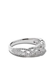 Wouters And Hendrix Gold 18Kt White Gold Braided Diamond Ring