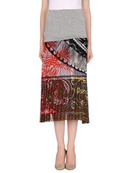 Pianurastudio Skirts 3 4 Length Skirts Women Grey