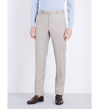 Richard James Hopsack Wool Trousers Tan