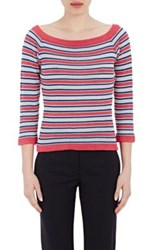 Philosophy Di Alberta Ferretti Women's Mixed Stripe Crochet Sweater No Color