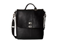 Will Leather Goods North South Cross Body Black Handbags