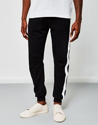 The Idle Man Contrast Tape Jogger Black
