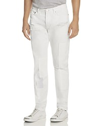 Soulland Chrystler Patch Slim Fit Jeans In White