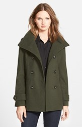Junior Women's Thread And Supply Double Breasted Peacoat Hunter Green