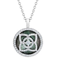 De Beers White Gold And Mother Of Pearl Enchanted Lotus Pendant Multi