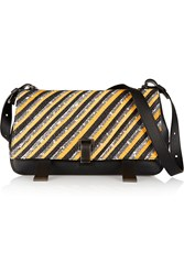 Proenza Schouler Courier Mangrove Snake And Leather Shoulder Bag Yellow