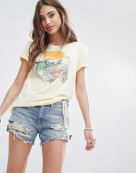 Denim And Supply Ralph Lauren By Floral California T Shirt Yellow White